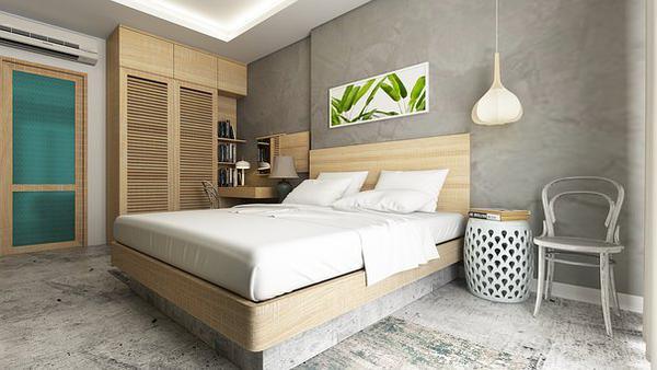 Mieszkanie z betonowymi i dekoracyjnymi posadzkami